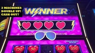 DOUBLING UP @ THE CASINO! DANCING DRUMS, HEART THROB LIGHTNING LINK! BIG BETS, BIG WINS!