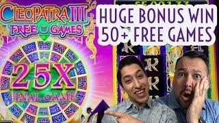 Cleopatra III HUGE WIN In Free Games! Massive Multipliers Plus Multiple Retriggers •