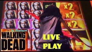 The WALKING DEAD 2 slot machine LIVE PLAY BONUS WINS!