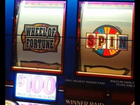 $100 Wheel of Fortune Slot Machine *JACKPOT* Handpay Win!