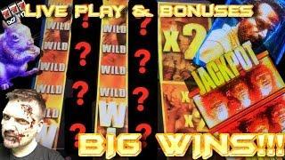 BIG WINS!!! LIVE PLAY and Bonuses on Walking Dead 2 Slot Machine