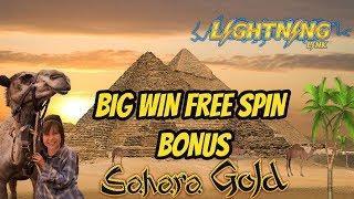BIG WIN-SAHARA GOLD SLOT- FREE SPIN BONUS