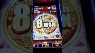 Retraegers out the ying yang!!  Buffalo Grand Long Bonus Aristocrat Slot machine