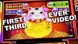 FIRST EVER THIRD VIDEO!!!! * I CAN'T BELIEVE THAT JUST HAPPENED!! -New Las Vegas Casino Slot Machine
