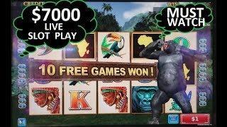 NG SLOT vs SAN MANUEL CASINO ! $7000 Live Slot Play | Last Visit To SAN MANUEL | Part 3
