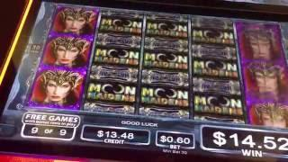 Moon Maidens Slot Machine ~ FREE SPIN BONUS!!! ~ BIG WIN!!! 124X • DJ BIZICK'S SLOT CHANNEL