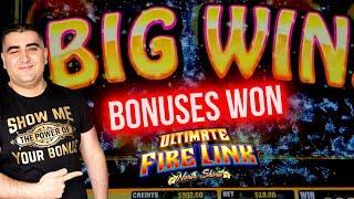 Bonuses & Nice Wins On ULTIMATE FIRE Link Slot | $1,000 Challenge To Beat The Casino | EP-24