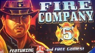 FIRE COMPANY 5 SLOT MACHINE BONUS-LIVE PLAY-RENO