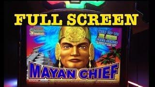 **FULL SCREEN** MAYAN CHIEF slot machine Full Screen HUGE WIN