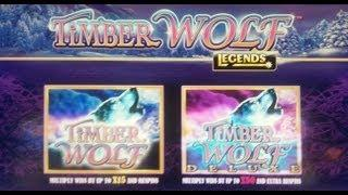 Aristocrat Technologies: Legends Series - Timber Wolf Deluxe Slot Bonus ~NICE WIN~