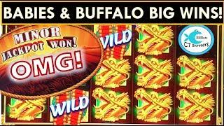 THE BUFFALO RAN OUT AND GAVE ME A HUGE WIN! BUFFALO STAMPEDE SLOT MACHINE, FU DAO LE, FU NAN FU NU!