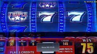 Triple Stars $1 Slot Machine & Triple Double Red Hot - Spitfire Multipliers @ San Manuel Casino