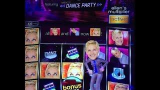 Ellen - Dance Party Slot Machine Bonus Win!!!