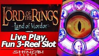 The Lord of the Rings 3-Reel Slot: Land of Mordor- Live Play with Multiple Bonuses