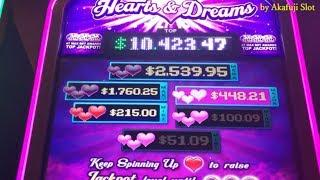 Akafuji Slot•BIG WIN Max Bet $5•Hearts & Dreams , Triple Stars, Triple RED HOT, $1 Slot Machine