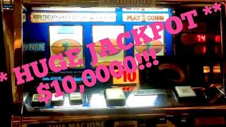 "** HUGE JACKPOT ** $10,000 SINGLE BET JACKPOT!! JFK'S ""FIRST"" 5 FIGURE HANDPAY BACK IN 2012."