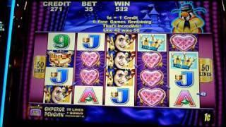Harlequin Hearts Slot Machine Bonus Win (queenslots)