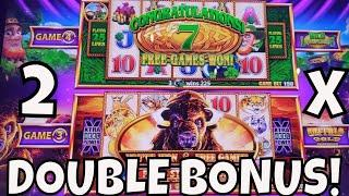 DOUBLE BONUS TWICE on WONDER 4 TALL FORTUNES!