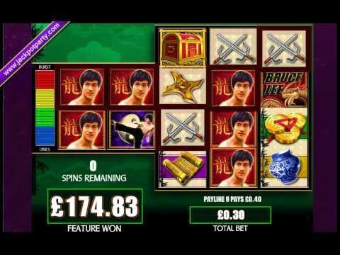 £246 MEGA BIG WIN (82 X STAKE) BRUCE LEE™ BIG WIN SLOTS AT JACKPOT PARTY