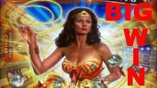 BIG WIN on WONDER WOMAN GOLDEN LASSO + YARDBIRDS 2 SLOT POKIES BONUSES - PECHANGA CASINO
