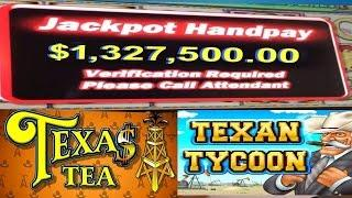 •Texas Tea, Oil Tycoon $1,327,500.00 Cash Out! Casino Video Slot Machine Jackpot Handpay | SiX Slot