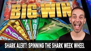 • BIG Win with A BIG Shark for Shark Week! • LAS VEGAS SLOTS BABY!