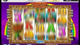 Rainbow Riches pots of gold online slot, pots first press!