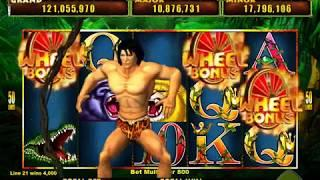 TARZAN LORD OF THE JUNGLE Video Slot Casino Game with a FREE SPIN BONUS