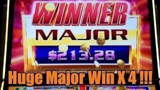 Huge Slot Win! Quick Fire Flaming Jackpots Major X 4!! $2 bet nets over $800!!