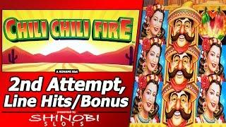 Chilli Chilli Fire Slot - Second Attempt, Live Play with Nice Free Spins and Line Hit