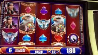 Great Eagle Returns Slot Machine ~ 2 FREE SPIN BONUSES ~ HUGE WIN!!! • DJ BIZICK'S SLOT CHANNEL