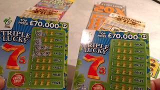20X CASH..Scratchcards..CASH SPECTACULAR....TRIPLE 7..VIP CASH WORD..LUCKY BUG..MATCH-3
