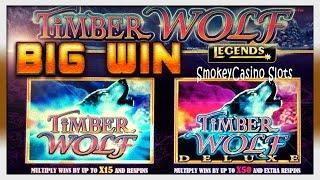 TImber Wolf Deluxe Slot Free Spins Big Win Bonus ~ Aristocrat