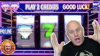 • HUGE 3 REEL JACKPOT! •My 1st BIG HIT on Double Diamond Strike •| The Big Jackpot