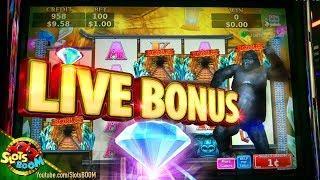 Quest for Diamonds LIVE Bonuses !!! BIG PICK !!!  Konami Slots