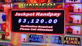 MASSIVE HIGH LIMIT BETTING $100 A SPIN! ★ Slots ★ FIRE PEARL JACKPOT HANDPAYS  ★ Slots ★ I WAS DOWN