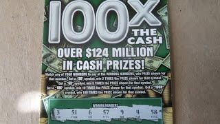 100X the Cash - $20 Instant Lottery Scratch Off Scratchcard Video