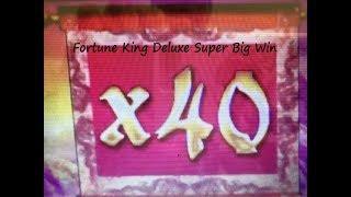 •SUPER MEGA BIG WIN x40 Again !•Fortune King Deluxe Slot machine Live Play & Super Big Win Bonuses•栗