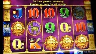 Golden Incas Bonus + Play Win !!! 5c Aristocrat Video Slots