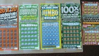 BIG WIN - Scratching FIVE $20 Instant Lottery Tickets - From the same store as the fiver losers