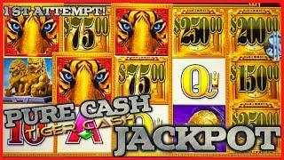 Pure Cash Tiger Cash HANDPAY JACKPOT ★ Slots ★️HIGH LIMIT MAX BET Bonus Round Slot Machine Casino