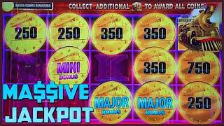 HIGH LIMIT All Aboard Dynamite Dash ⋆ Slots ⋆MASSIVE MAJOR HANDPAY JACKPOT $25 BONUS ROUND Slot Mach