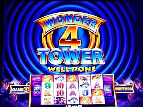 ( First Attempt) Aristocrat - Wonder 4 Tower ( Buffalo ) : 3 Bonuses on $1.60 bet