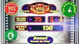 • 95% Quick Hit Platinum slot machine, Max Bet, Nice Win Happy Goose