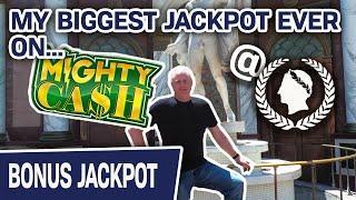 ★ Slots ★ OMG! My BIGGEST JACKPOT EVER on MIGHTY CASH ★ Slots ★ Caesars Palace LAS VEGAS Slots!