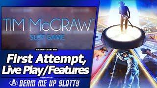 Tim McGraw Slot - New Slot, Live Play with Multiple Bonus Features
