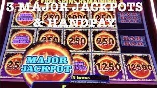 (3) MAJOR JACKPOTS ON LIBERTY LINK -  HANDPAY - HIGH LIMIT $25 MAX BET SPINS