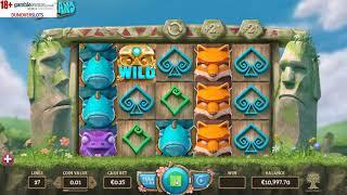 Easter Island new slot from Yggdrasil dunover tests it out....