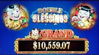 BIG WIN on DOUBLE BLESSINGS SLOT + TWICE THE MONEY SLOT MACHINE POKIES BONUS