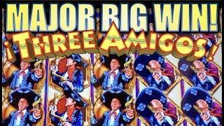 •MAJOR BIG WIN!!•• MASSIVE RETRIGGERS! THREE AMIGOS WE RIDE! Slot Machine Bonus (Ainsworth)